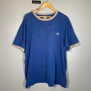 Vintage Nike Blue Silver Tee